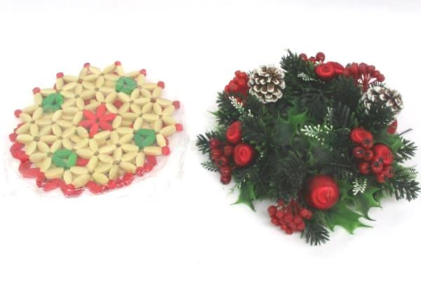 Christmas Accessory Lot Cookie Trays Stationary Bags Doilies Pot Holders Decor