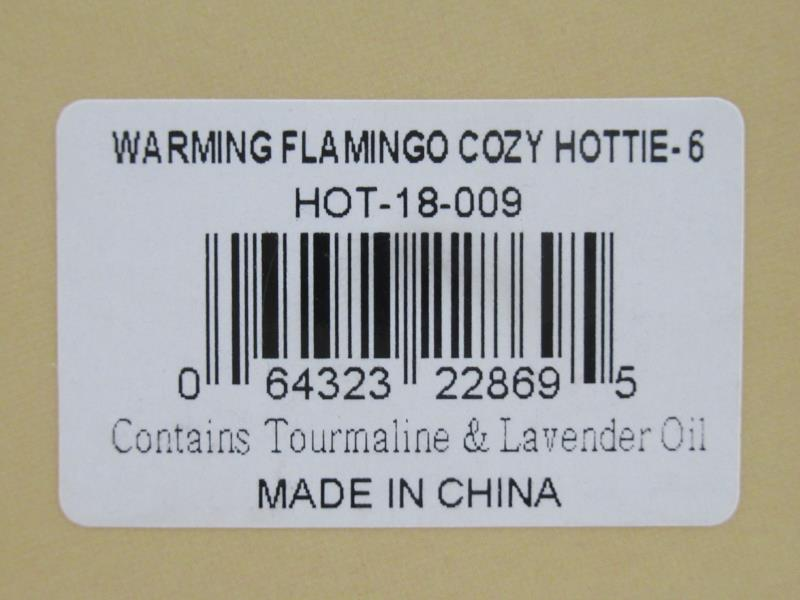 Aroma Home Microwaveable Cosy Hottie Warming Flamingo Lavender Heat Pack