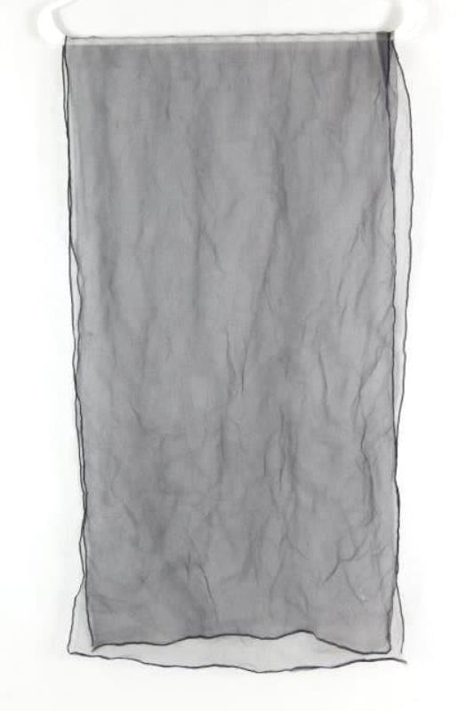 Lot of 3 Vintage Women's Scarves Scarfs Wraps Accessories Black Blue Fringe