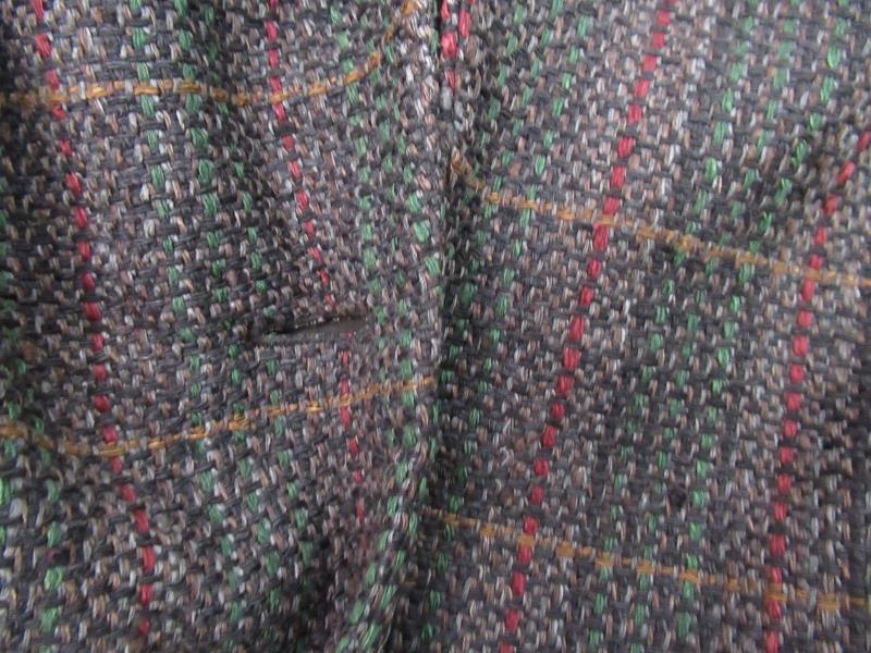 Vintage Doncaster Women's Woven Silk Jacket Blazer Brown Plaid Career Size 10