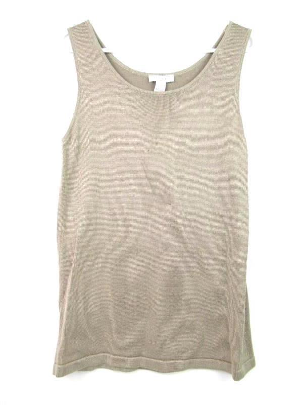 Doncaster Women's Knit Shell Tank Top Tan Rayon Blend Size M NWT