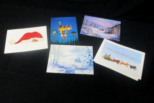 Merry Christmas Lot 30 Cards Envelopes Well Wishes Holiday Noel Season Greetings