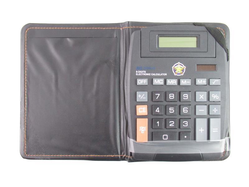 Big Display 8 Digits Electronic Calculator US Deputy Sheriff Large Number Case