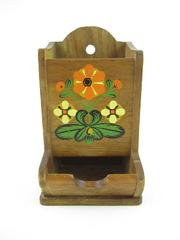 Vintage Standard Specialty Wooden Match Holder Wall Mounted Free Standing 60's
