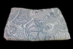 Large Duvet Cover Two Toned Blue Tribal Design  Button Closure Baby Blue