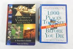 2 Books 1000 Places To See Before You Die USA Canada and 700 Places to Volunteer