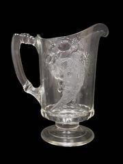 Antique 1890's Dalzell Gilmore Leighton Juice Water Pitcher Cornucopia Cherries