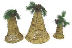 Woodland Bells Set of 3 Christmas INDOOR / OUTDOOR Decoration Hanging