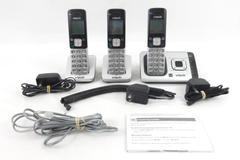 V Tech Cordless Telephone 3 Phones 3 Bases Power Cords Model CS6729-3