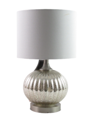 Elements by Crestview Table Lamp ABS1073BNME Silver Toned White