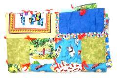 Vintage Homemade Quilt Patchwork Blanket Camper Birds Cars Bugs Crossword