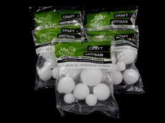 Lot of 5 Packs Of Craft Floral Foam Balls White Styrofoam 8PC Per Pack 40 Total