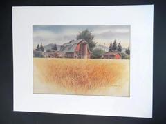 Mel Vincent Watercolor Lithograph 1974 Thistledown Farm Series One Print Twenty