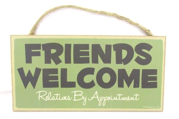 Lot 2 Wood Signs TO THE LODGE Friends Welcome Relatives by Appointment Country