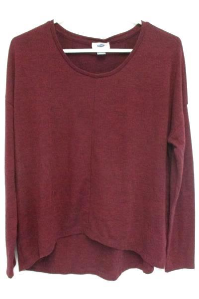 Lot of 2 Size Small Over Sized Crop Top Shirts Burgundy Old Navy and Gray Papaya