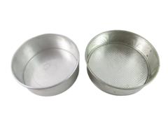 Lot of 2 Circle Cake Pans Metal Silver Toned 9 X 3 8 x 3
