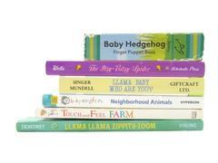 Lot Of 6 Cardboard Toddler Books Itsy Bitsy Spider Llama Llama Touch Feel Farm