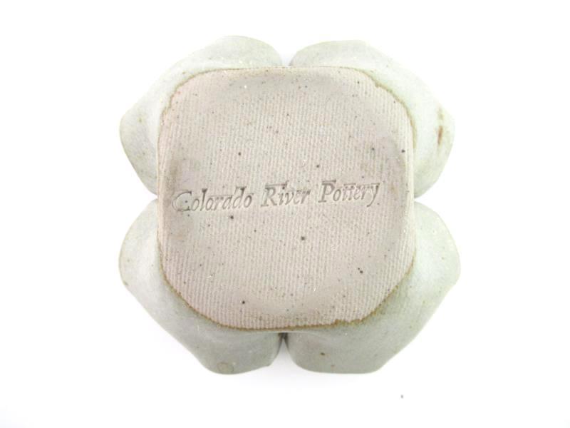 Colorado River Pottery Ash Tray Dish Gray Blue Mid-Century Modern Handmade