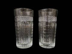 Lot of 2 Libbey Clear Glass Tumblers Radiant Pattern Ribs And Diamonds 15 Ounce