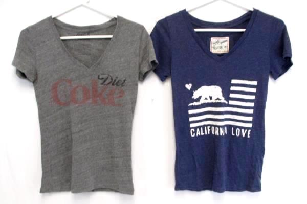 3 Size Small Tops Charlotte Russe Plaid Reflex Blue Tee Coca Cola Vintage Tee