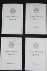 Lot of 4 Issues of Oregon Historical Quarterly 1960 March June Sept Dec PB