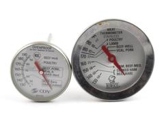 Lot of 2 Meat Thermometers Rowoco CDN For Cooking Stainless Ovenproof