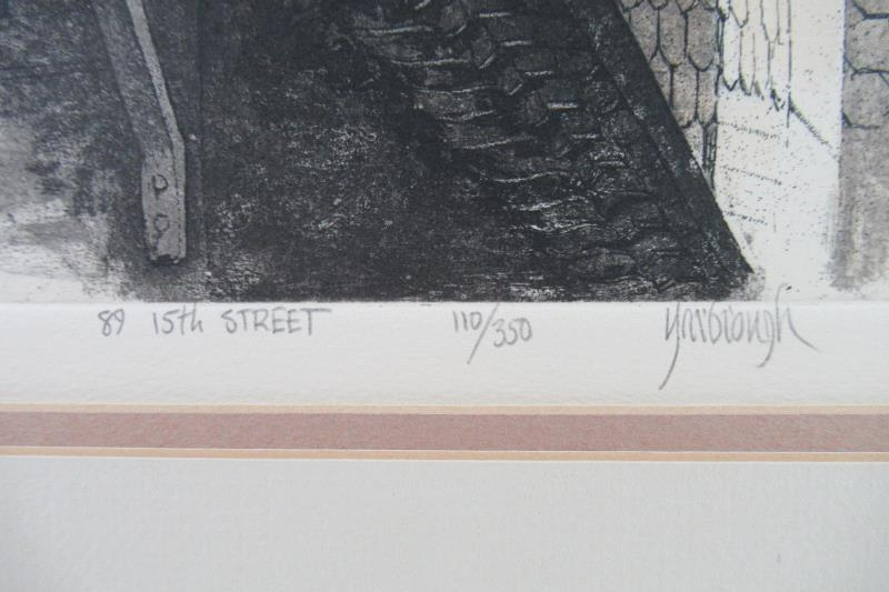 Lot of 2 Jim Yarbrough Limited Edition Prints 431 Oakland Ave & 89 15th St