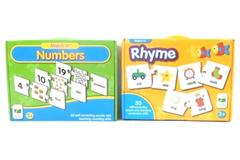Lot of 2 Match It Self Correcting Puzzles Rhyme Numbers The Learning Journey