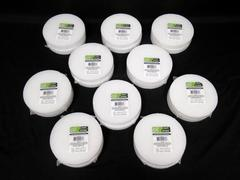 Lot of 10 Packs Of Circle Craft Floral Foam White Styrofoam 2PC Per Pack