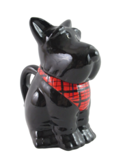 Vintage MSRF INC Design Studios Black Scotty Dog Cup Mug With Lid