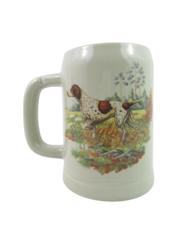 Vintage McCoy Pottery Pointer Dog Mug Stein Gray 6395