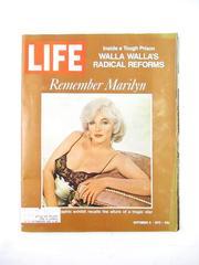 Vintage Life Magazine Sept 8 1972 Remember Marilyn
