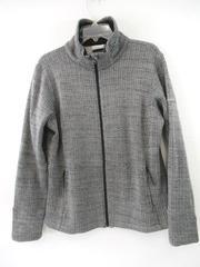 Columbia Sportswear Fleece Jacket Black White Herringbone Women's Size XL