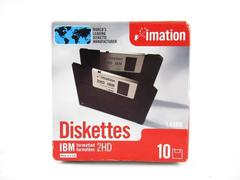 Imation 2HD Diskettes IBM Formatted 1.44 MB Open Package 9 Unused Floppy Disks