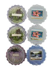 Lot of 6 Yankee Candle Wax Melts Ocean Blossom Drift Away Lilac Blossoms Lavend