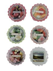Lot of 6 Yankee Candle Wax Melts Honeydew Sweet Melon Early Sunrise Peach Roses