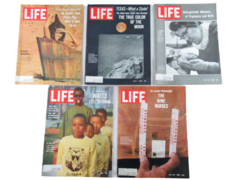 Lot of 5 Vintage Life Magazines July 1966 Claudia Cardinale Life Before Birth
