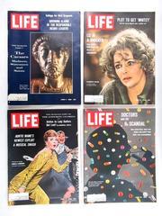 Lot of 4 Vintage Life Magazines June 1966 Marcus Aurelius Elizabeth Taylor