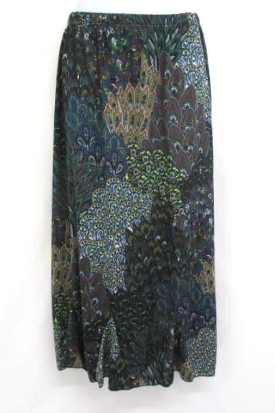 Women's Outfit Idea- Miss Ashley Paisley Skirt & Gray 21 Knit Sweater Size M