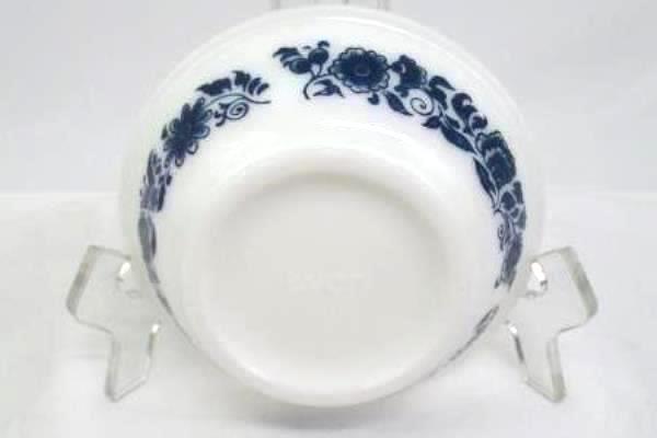 Vintage Avon Basin & Pitcher Set Milk Glass Miniature Wash Blue Flowers 5oz.