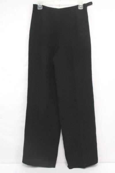 Talbots Lined Pants Black with White Dotted Career Work Size 6