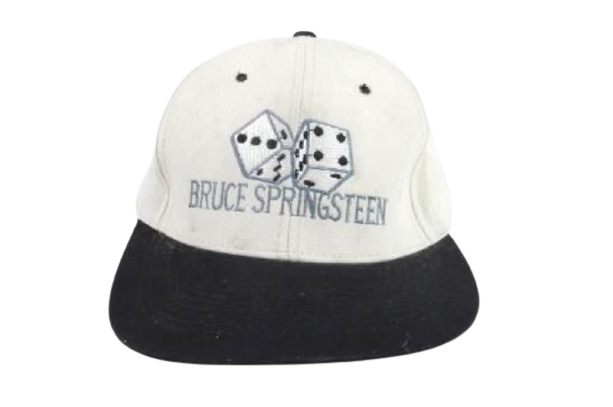 Vintage Bruce Springsteen Embroidered Hat Dice Adjustable Discolored One Size