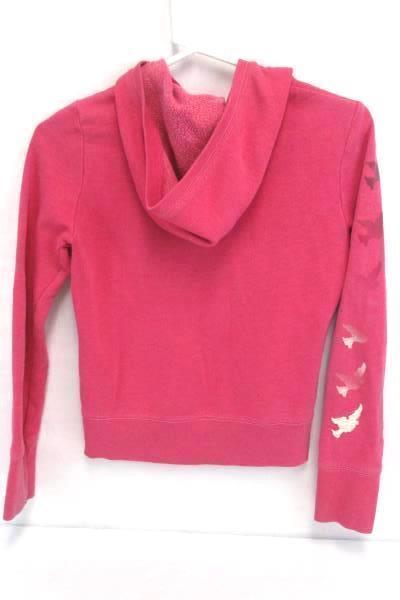 Hoodie Pink Girls Old Navy Sweatshirt Pullover Youth XL Zip Up Dove Stamp