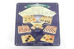 1999 Pressman Classic Collector Series 7 in 1 Wood Games