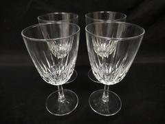 Lot of 4 Diamant Crystal Wine Glasses By Cristal D'Arques Durand France 6 Inch
