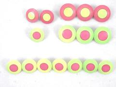 Lot of 16 Vintage Round Plastic Buttons Pink and Yellow Various