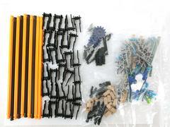 Large Lot of 140 K'nex Pieces Special Colors Metallic Holograph Rare Parts