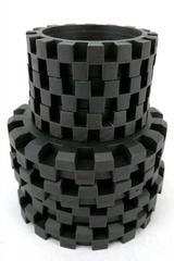 Lot of 13  K'nex Large & Medium Wheels Hubs, Rubber Tires Bulk Replacements