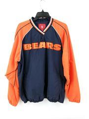 NFL Windbreaker Pullover Jacket CHICAGO BEARS Pockets Men's Size Medium