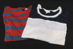 Lot of 2 BP Under Cover Long Sleeve Striped Half Sleeve 2 Color Tops Women's Sm